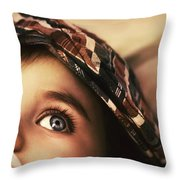 Cute Baby Eating Throw Pillow