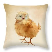 Cute Chick Throw Pillow