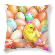 Cute Easter Chick Throw Pillow