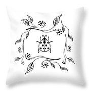 Cute Ladybug Baby Room Decor Iv Throw Pillow