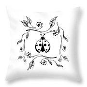 Cute Ladybug Baby Room Decor Vi Throw Pillow