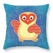 Cute Little Baby Chick Throw Pillow