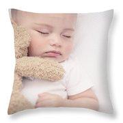 Cute Little Baby Sleeping Throw Pillow