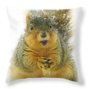 Cute Little Peanut Throw Pillow