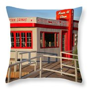 Cute Little Route 66 Diner Throw Pillow