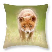 Cute Overload Series - Baby Fox Exploring The World Throw Pillow