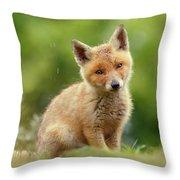 Cute Overload Series - Best Baby Fox Ever Throw Pillow
