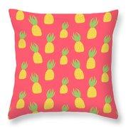 Cute Pineapples Throw Pillow