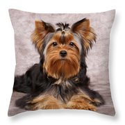 Cute Puppy Throw Pillow by Konstantin Gushcha
