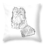 Cutest Kitten On The Web Throw Pillow