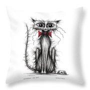 Cuthbert The Cat Throw Pillow