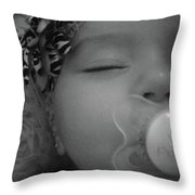 Cutie Patootie Past Out Throw Pillow