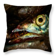 Cutlassfish Eyes Throw Pillow