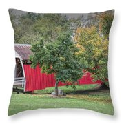 Cutler-donahoe Covered Bridge Throw Pillow