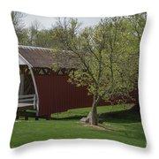 Cutler - Donahoe Covered Bridge - Madison County - Iowa Throw Pillow