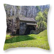 Cuttalossa Mill In The Springtime Throw Pillow