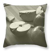Cutting Apples Throw Pillow