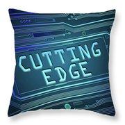 Cutting Edge Concept. Throw Pillow