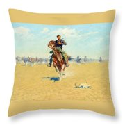 Cutting Out Pony Herds Throw Pillow