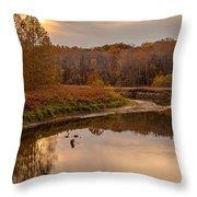 Cuyahoga Valley Autumn Sunset Throw Pillow