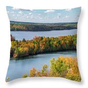 Cuyuna Country State Recreation Area - Autumn #1 Throw Pillow