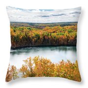 Cuyuna Country State Recreation Area - Autumn #2 Throw Pillow