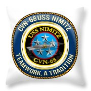 Cvn-68 Uss Nimitz  Throw Pillow