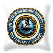 Cvn-71 Uss Theodore Roosevelt Throw Pillow