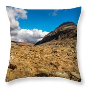Cwm Idwal Panorama Throw Pillow