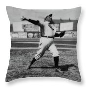 Cy Young With The Boston Americans 1908 Throw Pillow