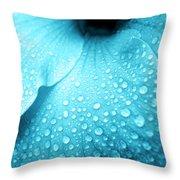 Aqua Droplets Throw Pillow