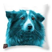 Cyan Shetland Sheepdog Dog Art 9973 - Wb Throw Pillow