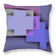 Cyberstructure 3 Throw Pillow by Eikoni Images