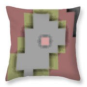Cyberstructure 9 Throw Pillow