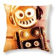 Cyborg Dance Party Throw Pillow