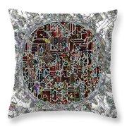 Cyborg Heart Throw Pillow