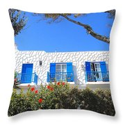 Cycladic Architecture - 4161 Throw Pillow