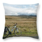 Cycle Across The Beacons Cycle Route. Throw Pillow