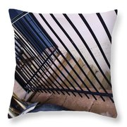 Cycle And Stairs I Throw Pillow