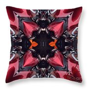 Cycle Flower Throw Pillow