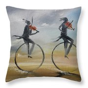 Cycle Of Violins #2 Throw Pillow