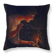 Cycles Fongers Vintage Bicycle Poster Throw Pillow