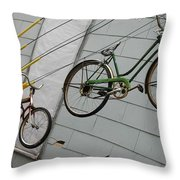 Cycles Throw Pillow