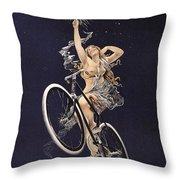 Cycles Sirius - Paris 1899 Throw Pillow