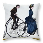 Cycling 1878-1978. Throw Pillow