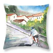 Cycling In Italy 01 Throw Pillow