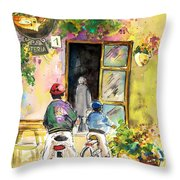 Cycling In Italy 04 Throw Pillow