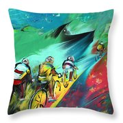 Cycling In Majorca 01 Throw Pillow