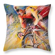 Cycling Throw Pillow