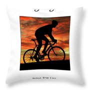 Cycling Pedal For Life Throw Pillow